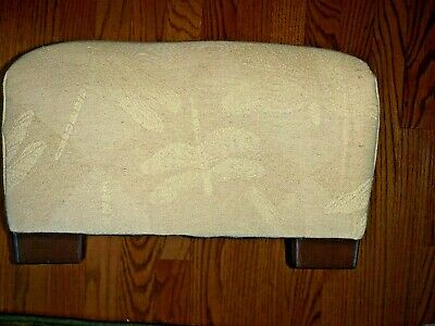 """Antique Dragonfly Fabric Plush Foot Stool Rest Pale Yellow 8.5"""" X 12"""" ❤️tw4j1"""