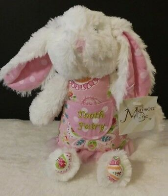 Madison chic Sophie the Bunny Tooth Fairy Pillow Plush Stuffed rabbit NWT