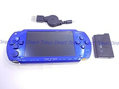 USED Very Good PSP PlayStation Portable Metallic Blue PSP-1000 console Japan F/S