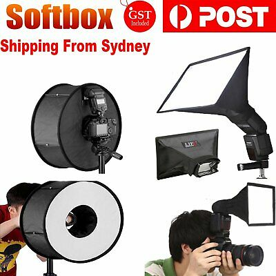 Portable Softbox Diffuser Soft Box for Flash Speedlite Photography Photo Props A