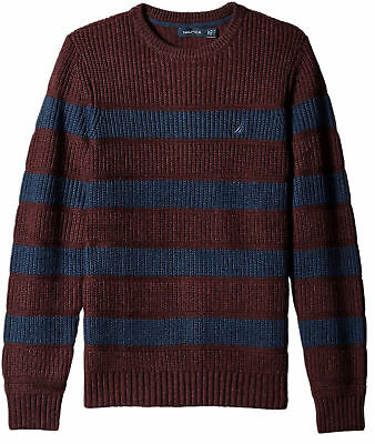 Nautica Mens New $128 Ribbed Thick Knit Pullover Crewneck Sweater S Small NWT