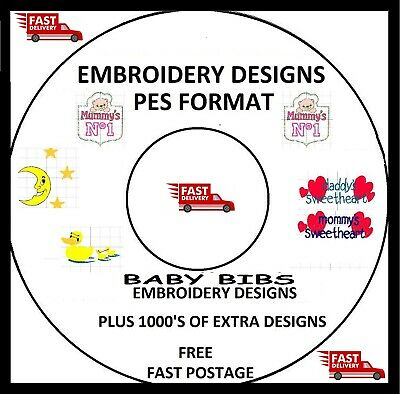 Embroidery Designs, Baby Designs, Pes Format Buy 2 Cds & Get Free Font Cd