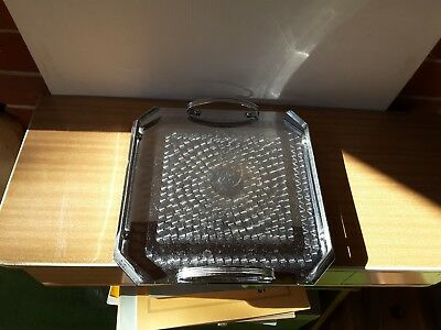 Vintage Chrome Art Deco Ranleigh Drinks Serving Tray  SQUARE