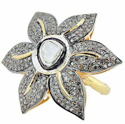 Victorian Style 2.78ct Antique Rose Cut Diamond Ring, Free Shipping