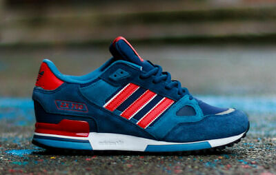 adidas Originals Mens ZX 750 Trainers Navy/Red Sneakers