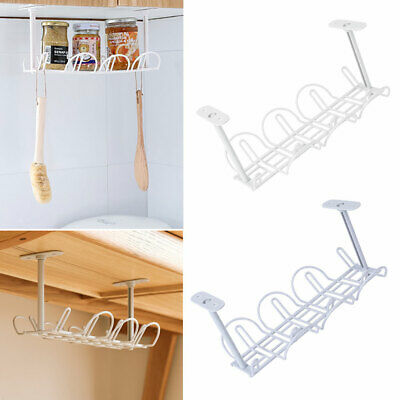 Under Cord Adapter Holder Wire desk cable tray Strip Power Organizer Management