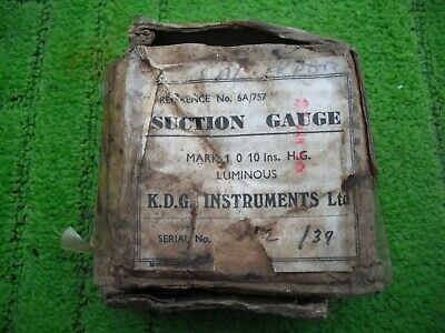 ww2 raf lancaster suction gauge rare dated 1943 boxed condition