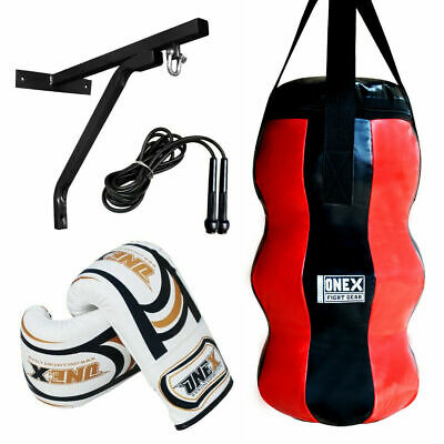 Training Kick/Boxing Maize Punch Bag Filled Heavy Duty Gym MMA Martial arts Set