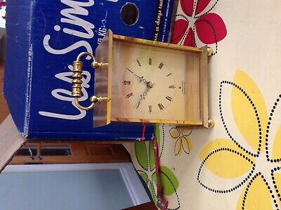 Junghans electronic vintage brass carriage clock.