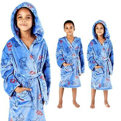Boys Kids Gaming Dressing Gown Novelty Fleece Game Robe