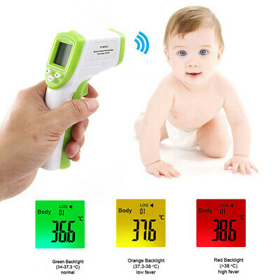 FM_ Digital LCD Backlight Infrared Thermometer Non-contact Forehead Temperature