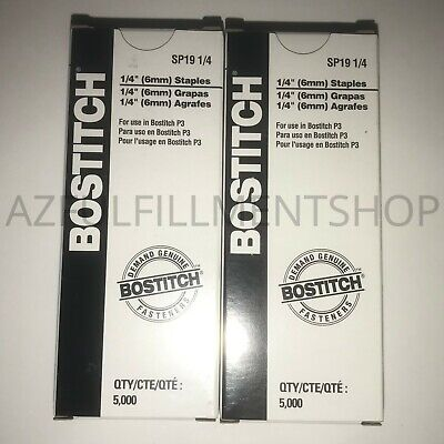 """2 Pack of 1/4"""" Stanley Bostitch P3 Staples for P3 Stapler (SP19-1/4) Authentic!"""