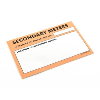 NEW Secondary Meter Sticker ,UK SELLER, FREEPOST