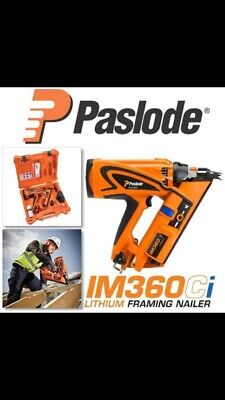 Paslode IM360CI Framing Nailer with Lithium-Ion Battery, FAST AND FREE DELIVERY