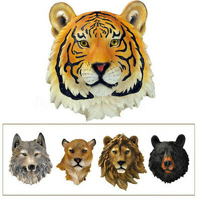 Wall Hanging 3D Ornament Gift Decoration Animal Head Wolf Living Room Mounted
