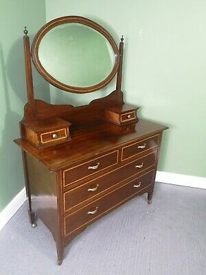 An Antique Early 20th Century Mahogany Dressing Chest Table~Delivery Available~