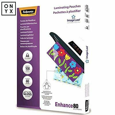 Fellowes A4 Laminating Pouches Gloss with Image Last Directional 160 Micron 100P