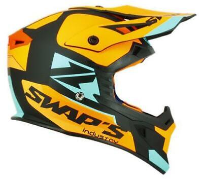 Casque Cross/Jet-ski - Swaps Noir Orange Bleu S