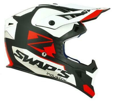 Casque Cross/Jet-ski - Swaps Noir Blanc Rouge XL