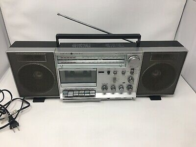 Vtg General Electric GE Model 3-5265A AM/FM Radio Cassette Stereo Boombox Tested
