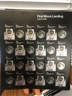 One Sheet Of 24 First-Class Forever First Moon Landing Postage Stamps
