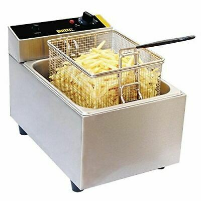 Buffalo Single Fryer with 5L Tank and Adjustable Thermostat 300x270x400mm 2.8kW