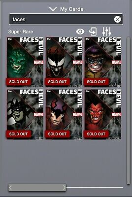Topps Marvel Collect Digital Faces of Evil Motion Lot