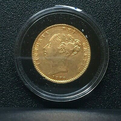 Extremely Rare (R4) 1870 Gold Half Sovereign, No Dot, Die Number 5, London Mint