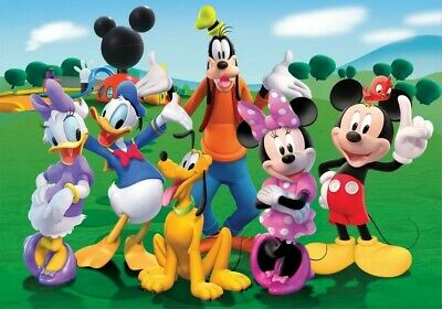 Disney Mickey Minnie Mouse Friends Birthday Backdrop Background Photography