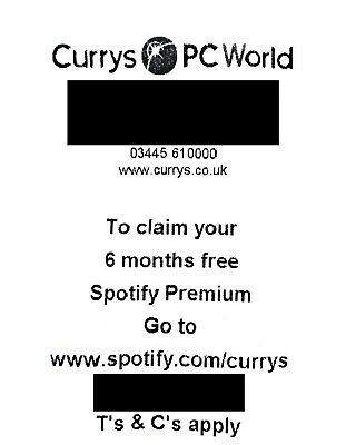 Spotify Premium - 6 Month Code - New Account Creation (Worth £59.94) - pc