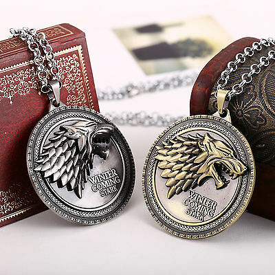 Game of Thrones House Necklace Stark Collect Dragon Chain Pendant Jewelry Gifts