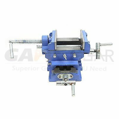 "6"" Cross Drill Press Vise Slide Metal Milling 2 Way X-Y Clamp Machine Heavy Duty"