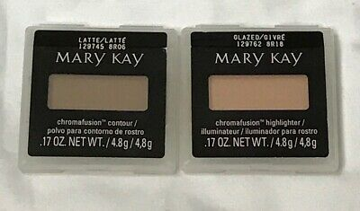 Lot of 2 Mary Kay Chromafusion Contour Latte Highlighter Glazed