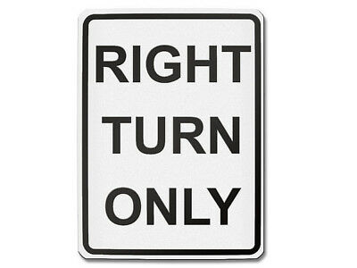 Traffic Sign USA - Right Turn