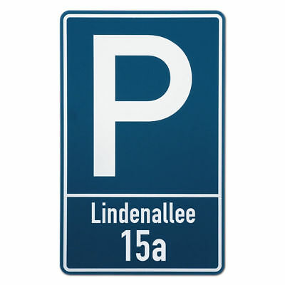 Parking Sign with Street Name and Number S3514