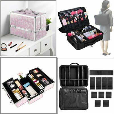 Professional Makeup Bag Portable Cosmetic Case Storage Box Travel Fashion