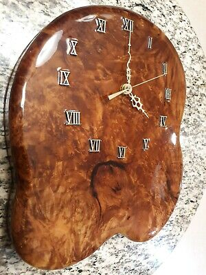 Vintage Authentic Wooden resin Wall Clock Roman numerals working good