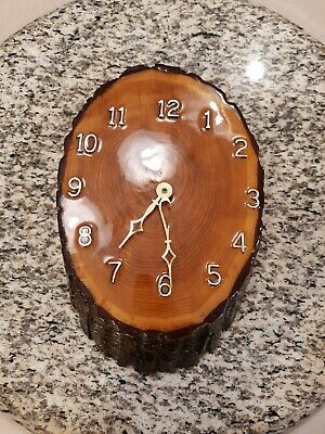 Vintage Authentic resin Wooden Wall Clock Roman numerals needs second hand