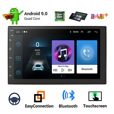 "2Din 7"" HD Android 9.1 Quad Core Car Stereo MP5 Player GPS Navi BT WiFi FM Radio"