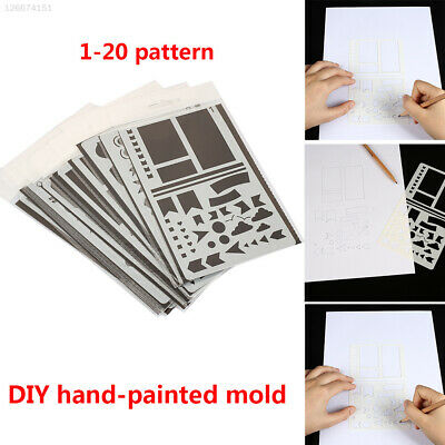7575 PP Stencils Scrapbooking Drawing Sheets Student Stamp Paper Card