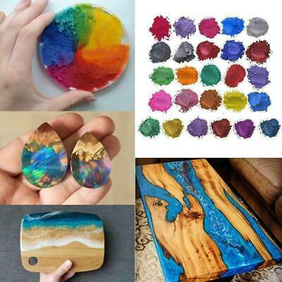 4pcs/SET Metallic Pearl Pigment Powder for Epoxy Resin Floors Dye Mixed Color UK