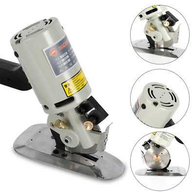 Electric Cloth Cutter Fabric Leather Rotary Blade Cutting Scissors Machine 200W