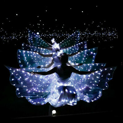 Popular Child Belly Dance Costume Accessory Shining Wings LED Butterfly Wings