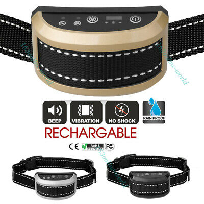 Rechargeable Anti Bark No Shock Humane Dog Trainer Stop Barking Training Collars