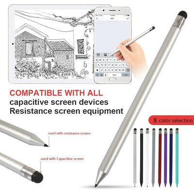 AU Fine-Point Round Thin Tip Stylus Pen For Smart Phone For iPad Professional 1X