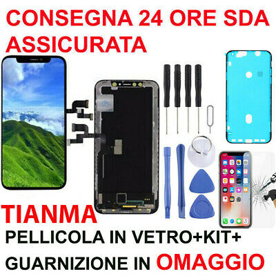 Display Lcd 3D Touch Screen Frame Originale Tianma Apple Iphone X 10 Schermo