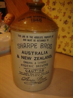 Sharpe Bros pottery bottle/demijohn      Large