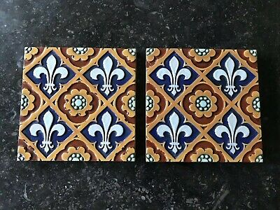 Two Victorian Antique Minton Hollins & Co Tiles, c1850-1855.