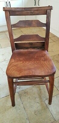 Beautiful vintage solid pine chapel/church chair