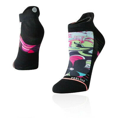 Stance Mujer Athena Tab Calcetines - Negro Deporte Correr Transpirable Ligero
